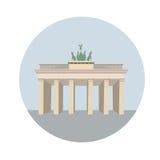 De Poort van Brandenburg van Berlijn, Duitsland Stock Afbeeldingen