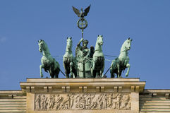 De poort van Brandenburger in Berlijn Royalty-vrije Stock Afbeeldingen