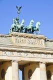 De poort van Brandenburger in Berlijn Stock Afbeelding