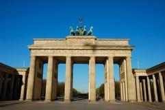 De Poort van Brandenburger in Berlijn Stock Foto's