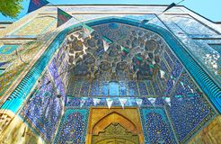 De poort van Chaharbagh madraseh, Isphahan, Iran royalty-vrije stock foto's