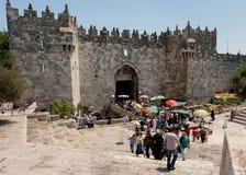 De Poort van Damascus in Jeruzalem Royalty-vrije Stock Afbeeldingen
