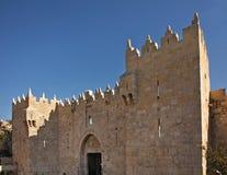 De Poort van Damascus in Jeruzalem israël Royalty-vrije Stock Foto's