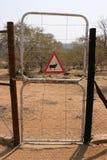 De poort van de bijlage Stock Foto