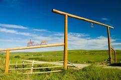 De Poort van de boerderij stock afbeelding