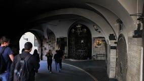 De Poort van de Gradecsteen, Zagreb stock footage