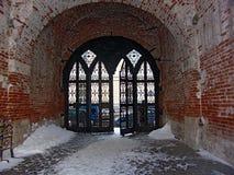 De poort van de ingang. Stock Afbeelding