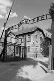 De poort van de ingang aan concentratiekamp Auschwitz Stock Fotografie