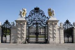 De poort van de ingang van Belvedere Stock Afbeeldingen