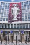 De poort van de ingang van het Olympische stadion in Kiev Royalty-vrije Stock Foto