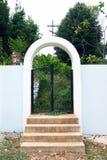De poort van de kerk Royalty-vrije Stock Afbeeldingen