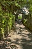De poort van de kerkwerf in Padstow, Cornwall het Verenigd Koninkrijk Stock Foto
