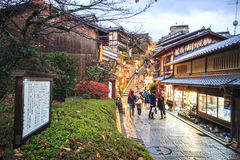 De Poort van de kiyomizu-Deratempel in Kyoto, Japan Royalty-vrije Stock Foto's