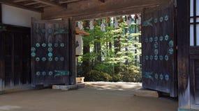 De Poort van de Kongobujitempel in Koyasan, Japan royalty-vrije stock foto's