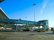 De poort van de luchthaven Stock Foto's