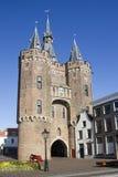De Poort van de stad van Zwolle, Holland Stock Afbeeldingen