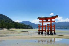 De Poort van de Torussen van Miyajima Stock Foto