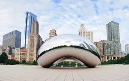 De Poort van de wolk in Chicago Stock Foto