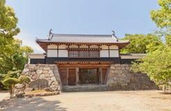 De poort van de Yaguramonstijl van Kawanoe-kasteel, Shikokuchuo, Japan Stock Fotografie