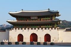De Poort van Gwanghwamun in Seoel, Zuid-Korea Royalty-vrije Stock Fotografie