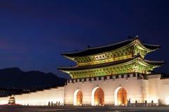 De Poort van Gwanghwamun in Seoel, Zuid-Korea Royalty-vrije Stock Foto's