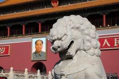 De Poort van Hemelse Vrede bij beroemd Tiananmen-vierkant in Peking stock foto's