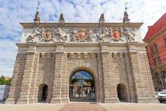 De poort van het Hoogland in oude stad van Gdansk Royalty-vrije Stock Foto's