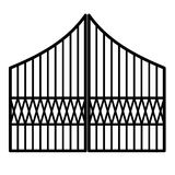 De poort van het ijzer Royalty-vrije Stock Foto's