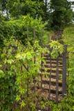 De poort van het ingangsmetaal aan bezit Stock Fotografie
