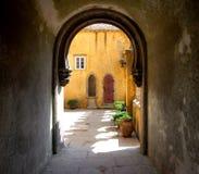 De poort van het kasteel Stock Fotografie