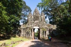 De poort van het oosten van Ankor thome Stock Afbeeldingen