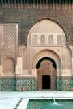 De poort van het paleis in Marrakech, Marokko Stock Afbeelding