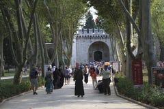 De Poort van het Paleis van Begroetingstopkapi Stock Fotografie