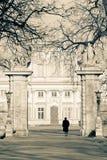 De poort van het Paleis van Wilanow stock fotografie