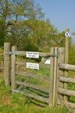 De Poort van het platteland Stock Foto's