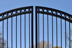 De poort van het smeedijzer Stock Foto
