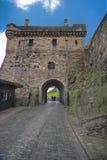 De Poort van het valhek, het Kasteel van Edinburgh stock afbeelding