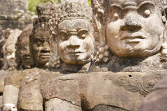 De Poort van het zuiden, Angkor Thom, Kambodja Stock Foto's