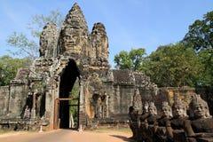 De Poort van het Zuiden van Thom van Angkor royalty-vrije stock afbeeldingen