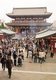 De Poort van Hozomon, Sensoji Boeddhistische Tempel, Tokyo Japan Stock Afbeelding