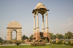 De poort van India bij vroege ochtend, New Delhi, India stock fotografie