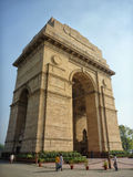 De Poort van India, Delhi in India Stock Afbeeldingen