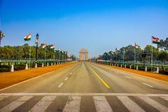 De Poort van India na Parade Stock Afbeeldingen