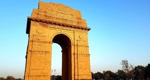 De poort van India, New Delhi India Stock Afbeelding