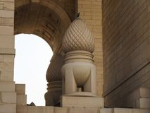 De poort van India, New Delhi, India stock afbeeldingen