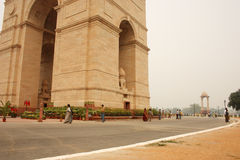 De Poort van India, New Delhi Royalty-vrije Stock Afbeeldingen