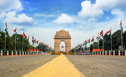 De poort van India, New Delhi, India Royalty-vrije Stock Fotografie