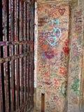 De poort van de ingang aan romeo en judieta tuinieren in Verona Italy royalty-vrije stock afbeelding