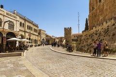 De Poort van Jaffa in Jeruzalem Stock Fotografie