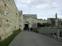 De poort van Jaffo stock afbeeldingen